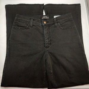 NYDJ Women's Black Rhinestone Wide Leg Jeans SZ 6P